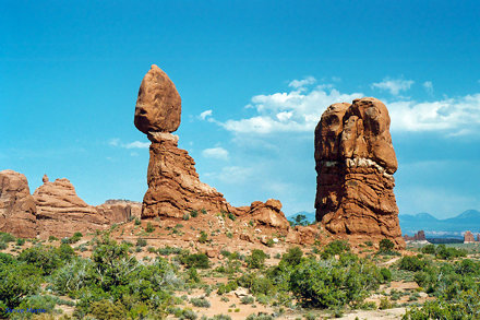 Balanced Rock with Neighboring Rock Tower, Arches National Park