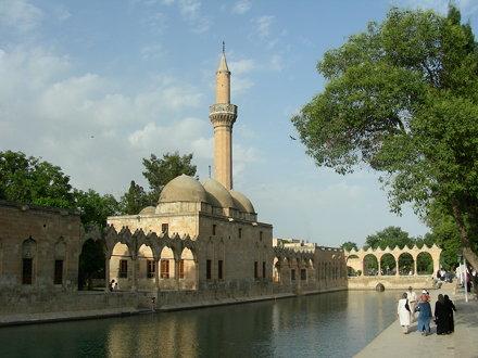 Urfa (hist. Edessa), Teich des Abraham mit heiligen Karpfen an der Halil-Rahman-Moschee
