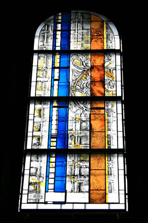 現代藝術彩繪玻璃