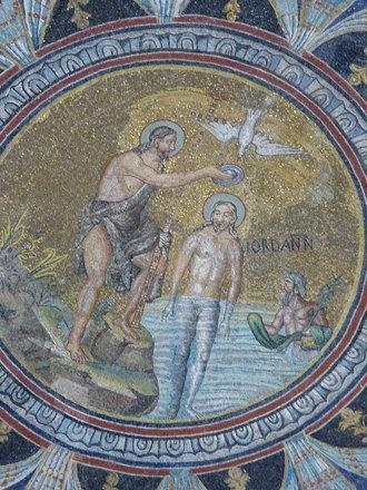Mosaics in Neonian Baptistry in Ravenna