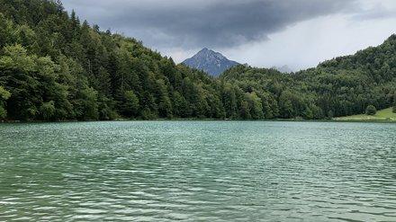 The Alatsee mountain lake