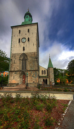 Domkirken in Bergen, Norway.