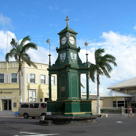 Basseterre's equivalent of Piccadilly Circus