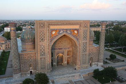 Samarkand, Registan, Sher-Dor Madrasah