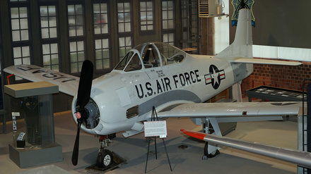 North American NA-159 T-28A Trojan 49-1544 in Big Spring