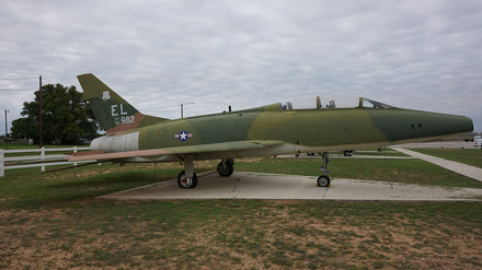 North American NA-243 F-100F-15-NA Super Sabre in Big Spring
