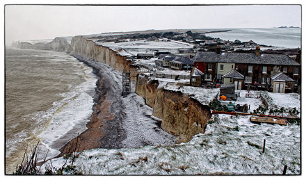 Birling Gap High Snowy Tide