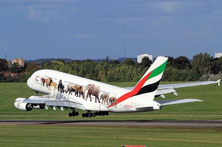 A6-EEI A380 Emirates BHX 29-09-2016