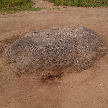 Знаменитый синий камень Плещеева озера, который ползает вперёд и назад. Сейчас он закапывается 40 ле