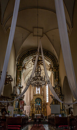 Gothic parish church in Bodzentyn