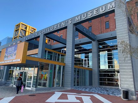 Taking the twins to the Boston Children's Museum.