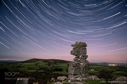 Star Trail at Bowerman's Nose, Dartmoor