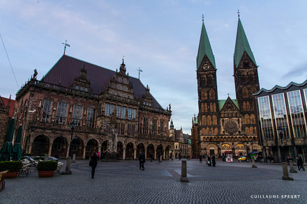 Town hall and cathedral (Bremen, Germany, 2017)