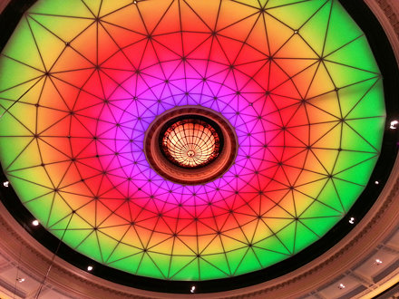 Colourful Dome Ceiling in Brisbane City Hall 2013