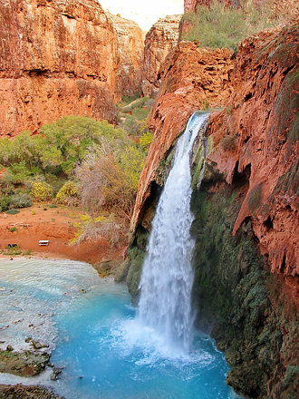 Havasu Falls on path to campground - Grand Canyon