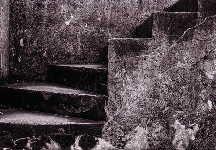 steps at Broughty Castle