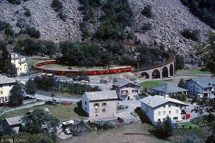 The spiral viaduct of Brusio