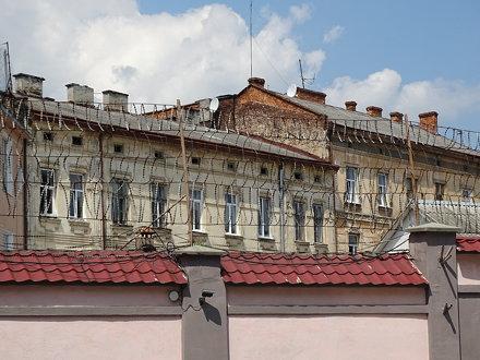 View over Wall of Brygidki Prison - Where Jews Were Murdered in Prison Aktion - Lviv - Ukraine