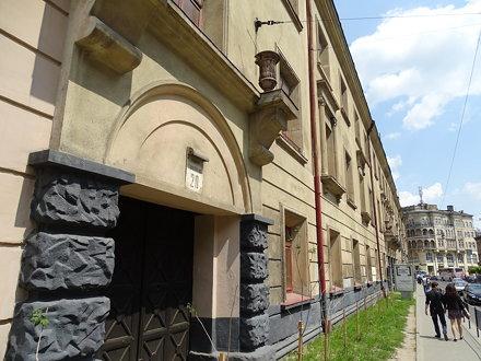 Facade of Brygidki Prison - Where Jews Were Murdered in Prison Aktion - Lviv - Ukraine
