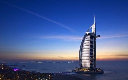 Burj Arab Hotel in Dubai, november 2011