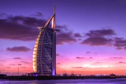 Lobby Burj Al Arab hotel. Dubai.