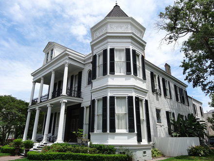 Victorian style mansion in the Garden District