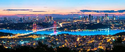 _DSC2016 - The Bosphorus Bridge panoramic skyline