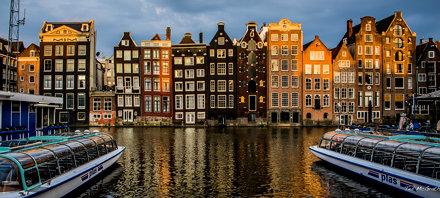 2018 - Amsterdam - Damrak Sunset