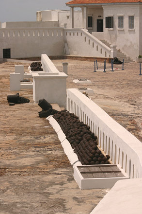 Courtyard and graves, Cape Coast Castle