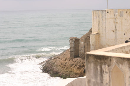 Overlooking the bay, Cape Coast Castle