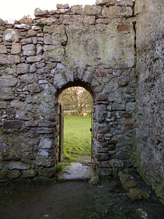 Entrance to Chapel at Din Lligwy