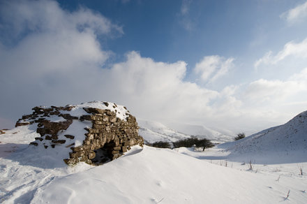 Castell Dinas in Snow