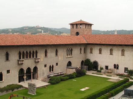 Verona, il cortile interno di Castelvecchio