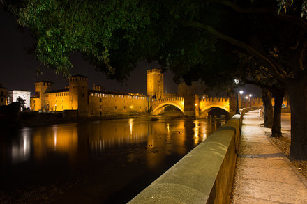 Nightview of Castelvecchio of Verona