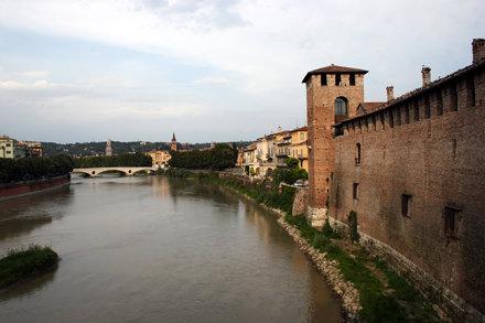 View from Ponte scaligero: Adige & Castelvecchio