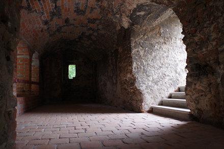 The ruins of the castle in Ząbkowice Ślaskie