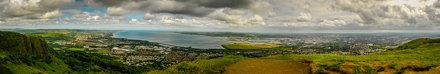 panorama of belfast lough taken from cavehill