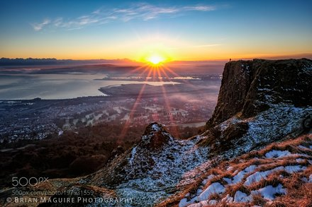 Sunrise over Belfast #1