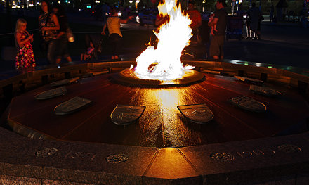 Eternal Flame at Night