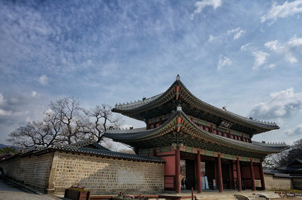 Changdeokgung today…blue sky but SO COLD!