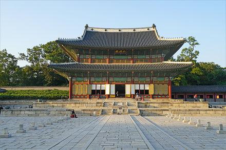 Le pavillon du Trône (Palais Changdeok-gung, Séoul)