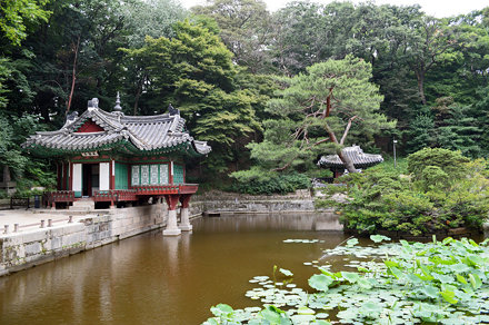 """Secret Garden"" in the Changdeokgung Palace, Seoul, South Korea"