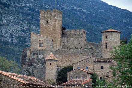 Le Jour ni l'Heure 7135 : château de Saint-Jean-de-Buèges, XIIe-XIVe s., Hérault, Languedoc-Roussill