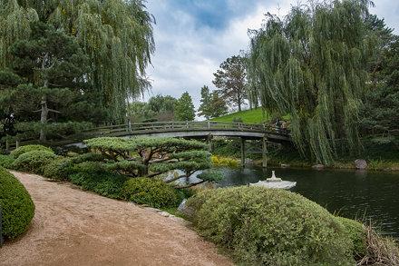 A cloudy Autumn day at the Chicago Botanic Garden