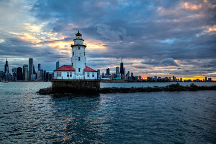 Chicago Harbor Light  - Following the Storm