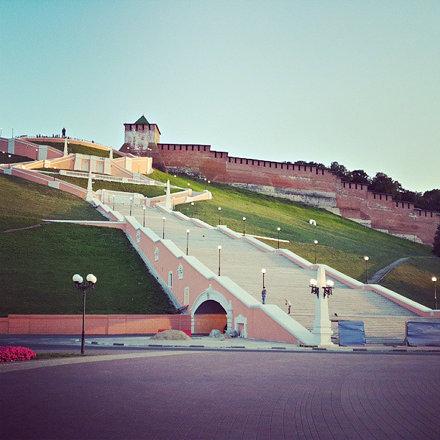 Чкаловская лестница. Проект архитекторов Яковлева, Руднева и Мунца. #ннов #лестница #nnov #нн #кремл