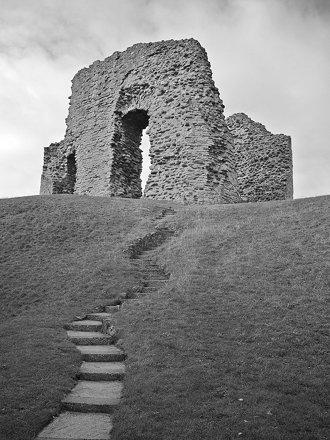 Steps to Christchurch Castle