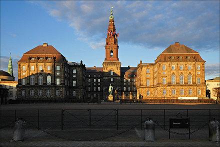 Копенгаген, Дания, дворец Кристиансборг
