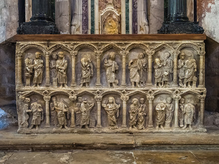 Sarcophagus with Double Register of Aracades in Saint-Trophime Church