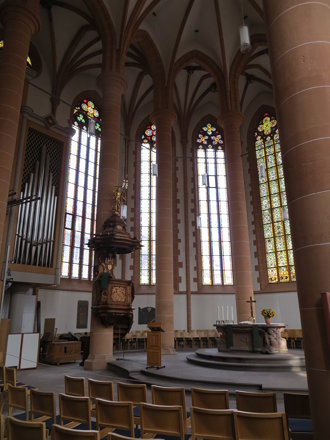 Interior of Church of the Holy Ghost / Church of the Holy Spirit  (Heiliggeistkirche) - Heidelberg,